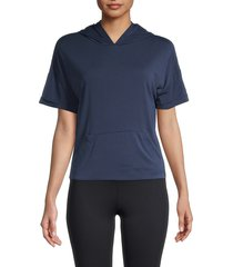 marc new york performance women's solid boxy hoodie - midnight - size m