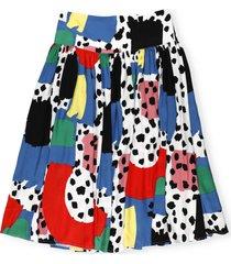 stella mccartney leopard print twill skirt