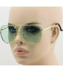 aviator super poshe  gold green twirl metal design frames women sunglasses new