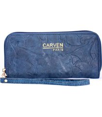 billetera azul carven
