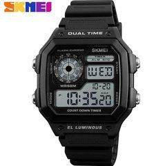 reloj deportivo para hombre skmei modelo 1299-negro