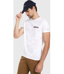 camiseta blanco-azul-rojo tommy hilfiger