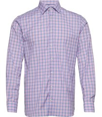 contemporary fit blue signature twill shirt overhemd business roze eton