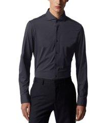 boss men's jason dark blue dress shirt