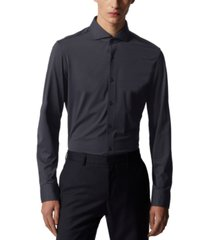 boss men's jason dark blue dress shirt