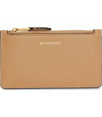 burberry two-tone leather card case - neutrals