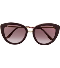 cartier eyewear trinity cat-eye sunglasses - red