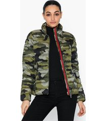 polo ralph lauren camo packable down jacket dunjackor