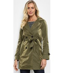 casaco trench coat doce trama sarja feminino
