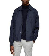 men's topman papertouch classic fit bomber jacket