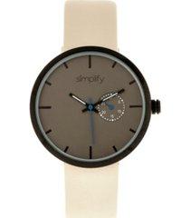 simplify quartz the 3900 genuine eggshell leather watch 40mm