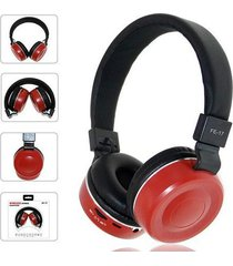 audífonos bluetooth, fe-17 plegable estéreo auricular - rojo