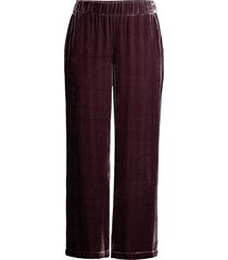 eileen fisher women's velvet wide-leg pants - casis - size xl