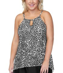 island escape plus size tankini, created for macy's women's swimsuit