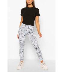 dalmatian print rib legging, blue