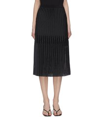 'godet' pleated midi skirt