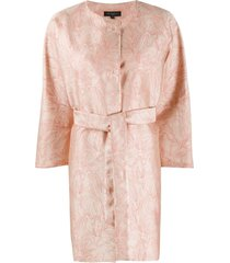 antonelli floral-print belted coat - neutrals