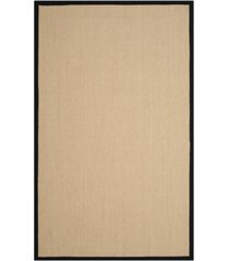 safavieh natural fiber beige and black 6' x 9' sisal weave rug