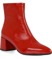 women's la canadienne darling waterproof pointed toe bootie, size 9 m - red