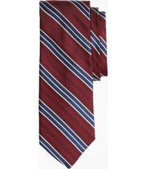corbata herringbone stripe tie burdeo brooks brothers