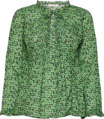 jordyn long blouse blus långärmad grön odd molly