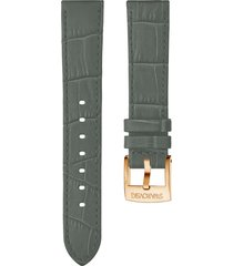 cinturino per orologio 20mm, grigio, placcato color oro rosa