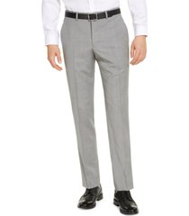 armani exchange men's classic-fit light grey suit pants, created for macy's