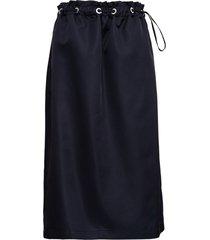 tessa black nylon skirt with drawstring