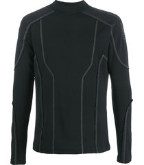 feng cheng wang contrast-stitch fitted sweatshirt - black