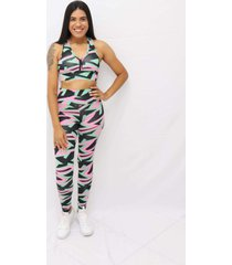 top com estampa sublimada abstract multicolorido - kanui