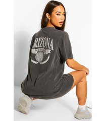 back tonal print t-shirt dress