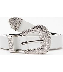 womens callin' all country queens diamante belt - white