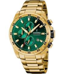 reloj chrono sport verde festina