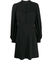 chloé button front dress - black