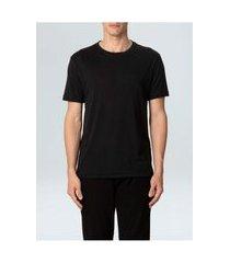 t-shirt osklen rustic pocket e-basics mc ii-pretop