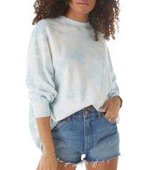 women's wrangler tie dye oversize sweatshirt, size medium - blue