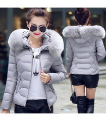 women down&parkas cotton jacket women cotton padded winter coat large fur collar