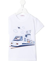 familiar travelling t-shirt - white