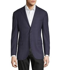 wool windowpane sport jacket