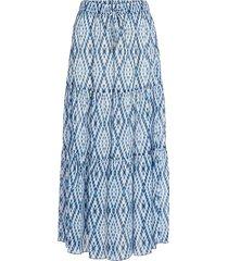 midi-rok met tie dye print ysa  blauw