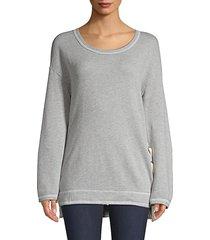wildfox women's jenna lace-up sweatshirt - heather grey - size xs