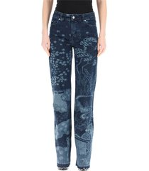 all-over printed jeans