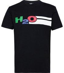 skagen tee t-shirts short-sleeved svart h2o