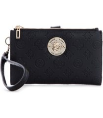 guess dayane double zip organizer wallet