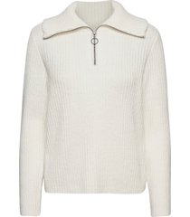 objrachel l/s knit pullover noos stickad tröja vit object