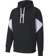 buzo negro puma rebel hoody capucha logo hm
