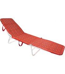 cadeira mormaii espreguiçadeira dobrável vermelho