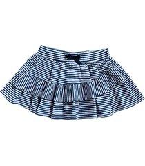 falda abril azul rayas