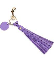 royce new york tassel key chain - purple