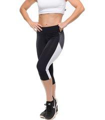 calça corsario sandy fitness dynamic white preto